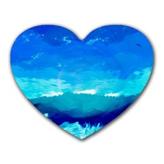 Blue Sky Artwork Drawing Painting Heart Mousepads