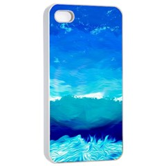 Blue Sky Artwork Drawing Painting Apple Iphone 4/4s Seamless Case (white) by Pakrebo