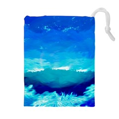 Blue Sky Artwork Drawing Painting Drawstring Pouch (xl)