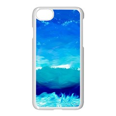 Blue Sky Artwork Drawing Painting Apple Iphone 7 Seamless Case (white)