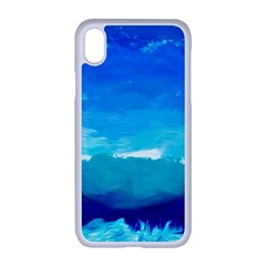 Blue Sky Artwork Drawing Painting Apple Iphone Xr Seamless Case (white)