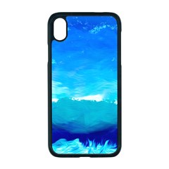 Blue Sky Artwork Drawing Painting Apple Iphone Xr Seamless Case (black)
