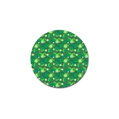 4 Leaf Clover Star Glitter Seamless Golf Ball Marker (4 Pack) by Pakrebo