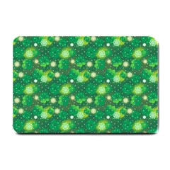 4 Leaf Clover Star Glitter Seamless Small Doormat