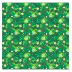 4 Leaf Clover Star Glitter Seamless Large Satin Scarf (square)