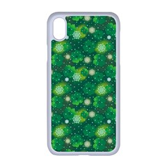 4 Leaf Clover Star Glitter Seamless Apple Iphone Xr Seamless Case (white)