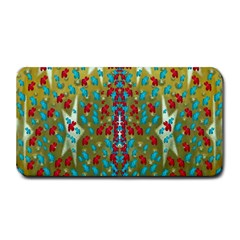 Raining Paradise Flowers In The Moon Light Night Medium Bar Mats by pepitasart