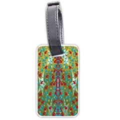 Raining Paradise Flowers In The Moon Light Night Luggage Tags (one Side)