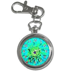 Aqua Cactus Dahlia Key Chain Watches