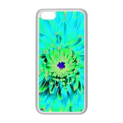 Aqua Cactus Dahlia Apple Iphone 5c Seamless Case (white)