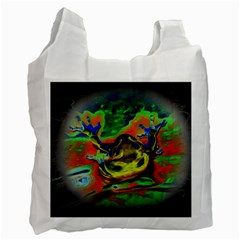 Abstract Transparent Background Recycle Bag (one Side)