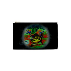 Abstract Transparent Background Cosmetic Bag (small)
