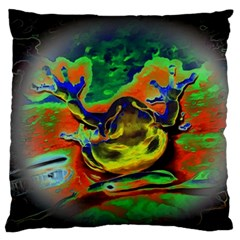 Abstract Transparent Background Large Flano Cushion Case (one Side)