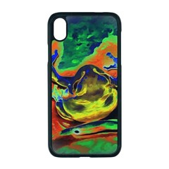 Abstract Transparent Background Apple Iphone Xr Seamless Case (black)