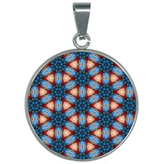 Pattern Tile Background Seamless 30mm Round Necklace