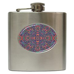 Tile Repeating Colors Textur Hip Flask (6 Oz)
