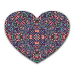 Tile Repeating Colors Textur Heart Mousepads by Pakrebo