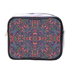 Tile Repeating Colors Textur Mini Toiletries Bag (one Side) by Pakrebo
