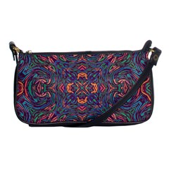 Tile Repeating Colors Textur Shoulder Clutch Bag by Pakrebo