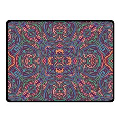 Tile Repeating Colors Textur Double Sided Fleece Blanket (small)  by Pakrebo
