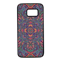 Tile Repeating Colors Textur Samsung Galaxy S7 Black Seamless Case by Pakrebo