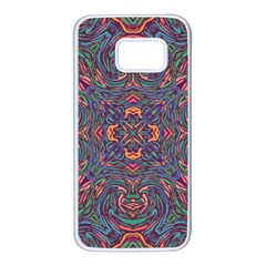 Tile Repeating Colors Textur Samsung Galaxy S7 White Seamless Case by Pakrebo
