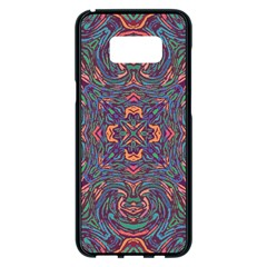 Tile Repeating Colors Textur Samsung Galaxy S8 Plus Black Seamless Case by Pakrebo