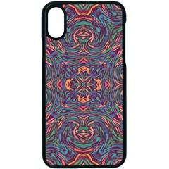 Tile Repeating Colors Textur Apple Iphone X Seamless Case (black)
