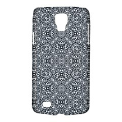 Black White Geometric Background Samsung Galaxy S4 Active (i9295) Hardshell Case