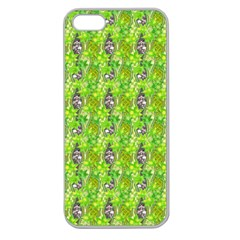 Maple Leaf Plant Seamless Pattern Apple Seamless Iphone 5 Case (clear)