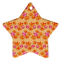 Maple Leaf Autumnal Leaves Autumn Ornament (star)