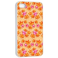 Maple Leaf Autumnal Leaves Autumn Apple Iphone 4/4s Seamless Case (white)