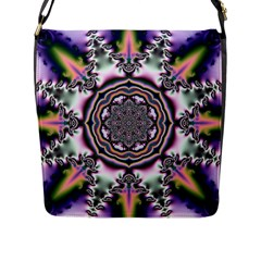 Pattern Abstract Background Art Flap Closure Messenger Bag (l)