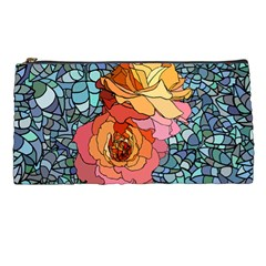 Pattern Rose Yellow Background Pencil Cases