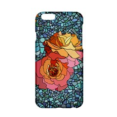 Pattern Rose Yellow Background Apple Iphone 6/6s Hardshell Case
