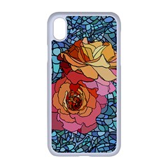 Pattern Rose Yellow Background Apple Iphone Xr Seamless Case (white)