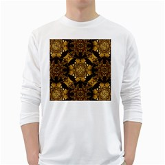 Gold Black Book Cover Ornate Long Sleeve T Shirt