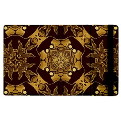 Gold Black Book Cover Ornate Apple Ipad 2 Flip Case