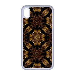 Gold Black Book Cover Ornate Apple Iphone Xr Seamless Case (white)