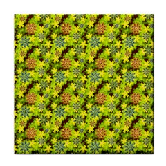 Flowers Yellow Red Blue Seamless Tile Coasters by Pakrebo
