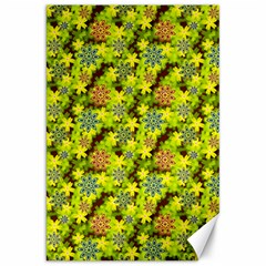 Flowers Yellow Red Blue Seamless Canvas 20  X 30