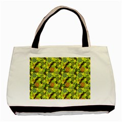 Flowers Yellow Red Blue Seamless Basic Tote Bag (two Sides)