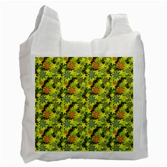 Flowers Yellow Red Blue Seamless Recycle Bag (two Side)