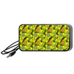 Flowers Yellow Red Blue Seamless Portable Speaker