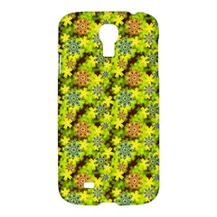 Flowers Yellow Red Blue Seamless Samsung Galaxy S4 I9500/i9505 Hardshell Case