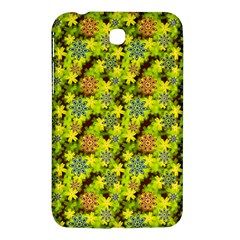 Flowers Yellow Red Blue Seamless Samsung Galaxy Tab 3 (7 ) P3200 Hardshell Case