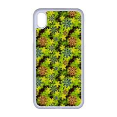 Flowers Yellow Red Blue Seamless Apple Iphone Xr Seamless Case (white)