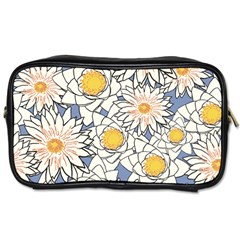 Flowers Pattern Lotus Lily Toiletries Bag (one Side)