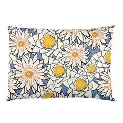 Flowers Pattern Lotus Lily Pillow Case (two Sides)