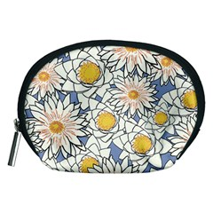 Flowers Pattern Lotus Lily Accessory Pouch (medium)
